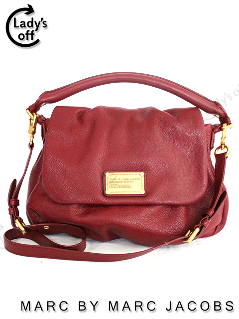 8d0878e6a8d3 マークバイマークジェイコブス [MARC BY MARC JACOBS] 2WAYレザーショルダーバッグ エンジ 赤
