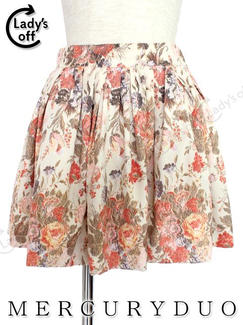 マーキュリーデュオ [MERCURY DUO] 花柄 フレアー スカート