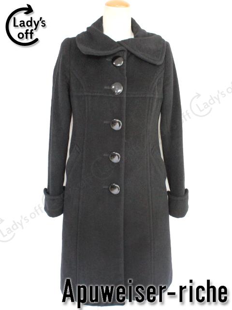 アプワイザーリッシェ[Apuweiser-riche] 襟付 ロング コート 黒 [1] ジャケット