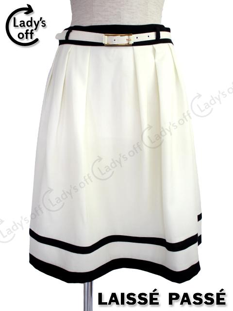レッセパッセ [LAISSE PASSE] ベルト付 フレアー スカート