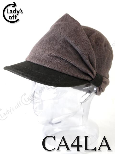 カシラ [CA4LA] キャスケット 帽子 カーキ×ブラウン キャップ