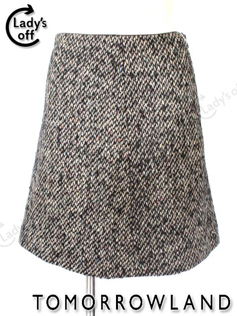 トゥモローランド [TOMORROWLAND] ツイード スカート 黒 [35]