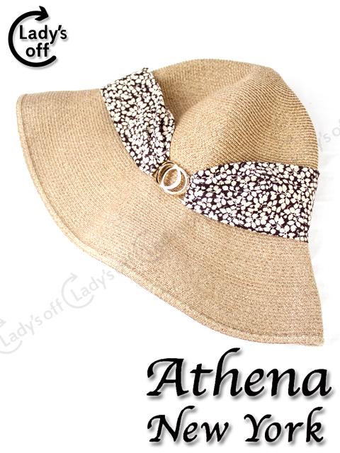 アシーナニューヨーク [Athena] デボラソリッド リボン 麦わら帽子
