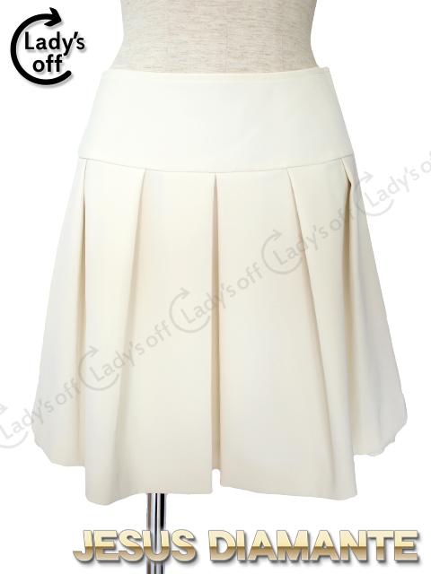 ジーザスディアマンテ[JESUSDIAMANTE] シンデレラスカート [38] 白 ホワイト プリーツスカート フレアースカート