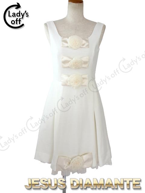 ジーザスディアマンテ[JESUSDIAMANTE] BBワンピ 3 [ 36 ] 白 ホワイト ワンピース ドレス ツイード