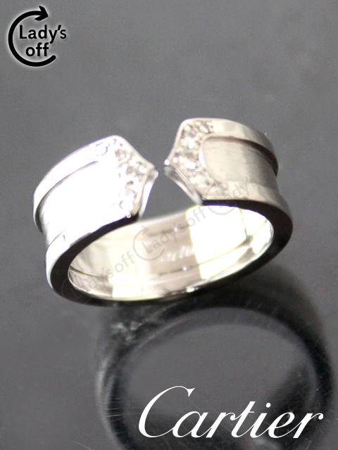 カルティエ[Cartier] C2 ダイヤ リング WG ホワイトゴールド #47