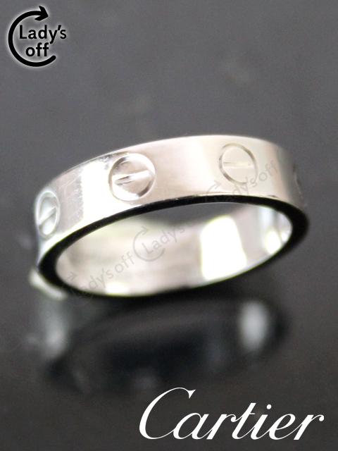 カルティエ[Cartier] ミニラブリング 1P ダイヤ WG ホワイトゴールド #46 新品仕上げ済み