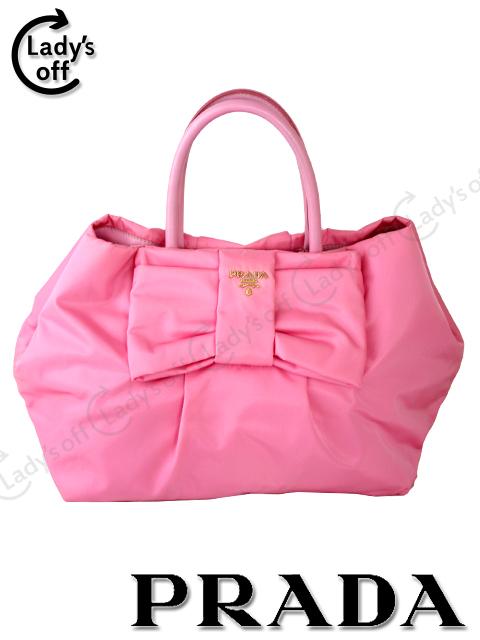 9fde4b5ac242 プラダ 【PRADA】 リボン バッグ ピンク トートバッグ ハンドバッグ BN1601