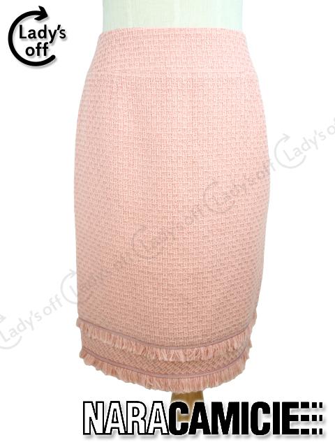 ナラカミーチェ ツイード タイトスカート [I] ピンク mix-9302