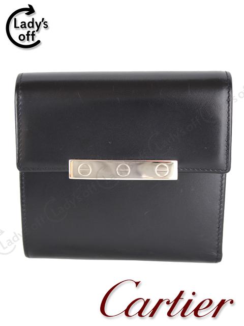 カルティエ[Cartier] ラブコレクション 二つ折り財布 黒