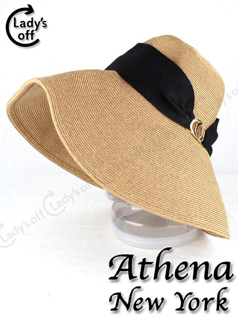 アシーナニューヨーク Athena New York デボラソリッド 帽子 黒 mix-9745