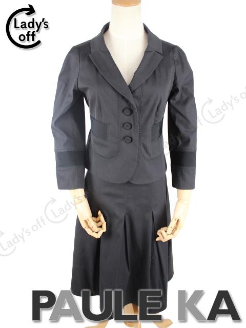 ポールカ [PAULE KA] リボン スーツ ブラック
