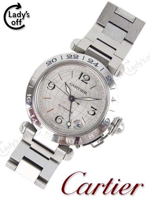 カルティエ[Cartier] パシャC GMT メリディアン W31029M7