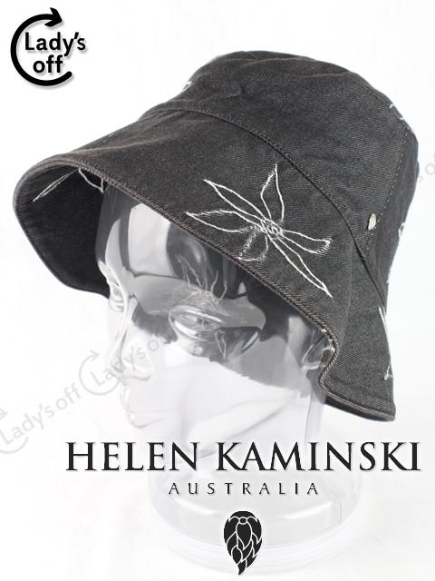 ヘレンカミンスキー [Helen Kaminski] フラワー刺繍 デニム 帽子
