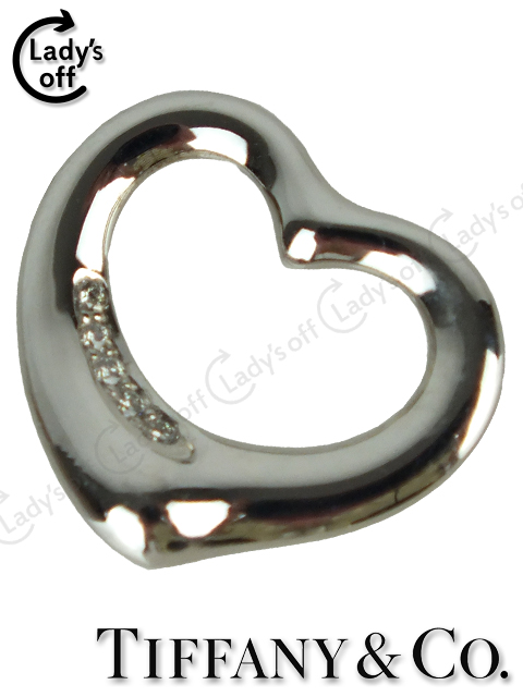 ティファニー[TIFFANY&Co] オープンハート 5Pダイヤモンド ペンダントトップ