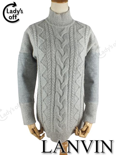 ランバンオンブルー [LANVIN] ケーブルニット セーター