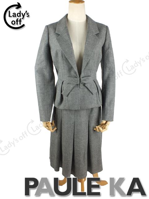 ポールカ [PAULE KA] リボン ジャケット スカート スーツ