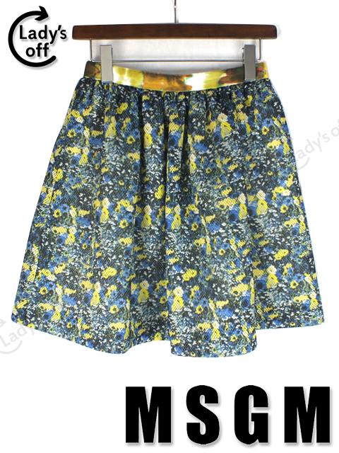 MSGM [エムスジーエム] フラワー フレアースカート
