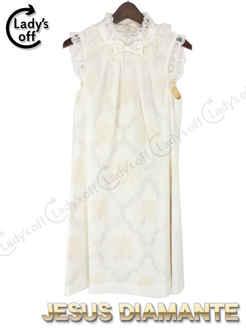ジーザスディアマンテ[DIAMANTE] レースの襟飾りの少女ワンピ