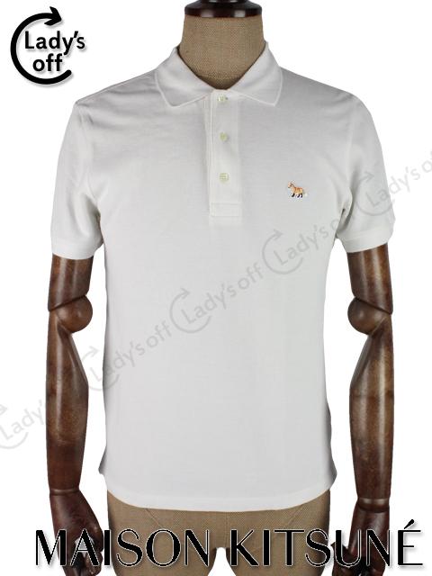 メゾン キツネ [ KISTUNE ] ポロシャツ 半袖 白 [M]