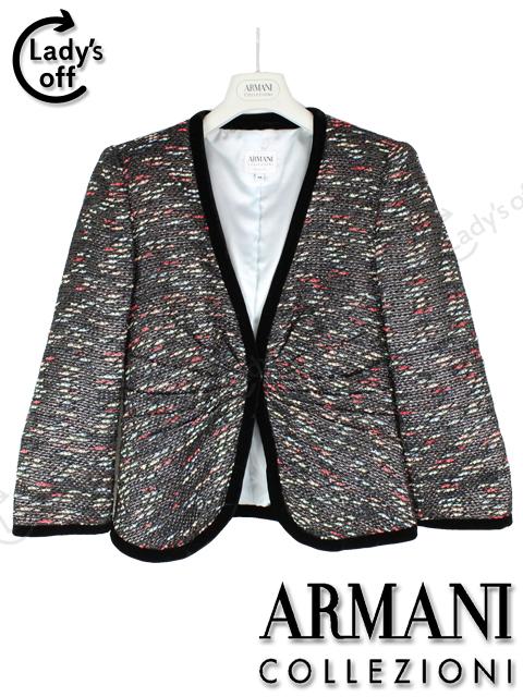 アルマーニ コレツオーニ [ARMANI] ツイード ジャケット