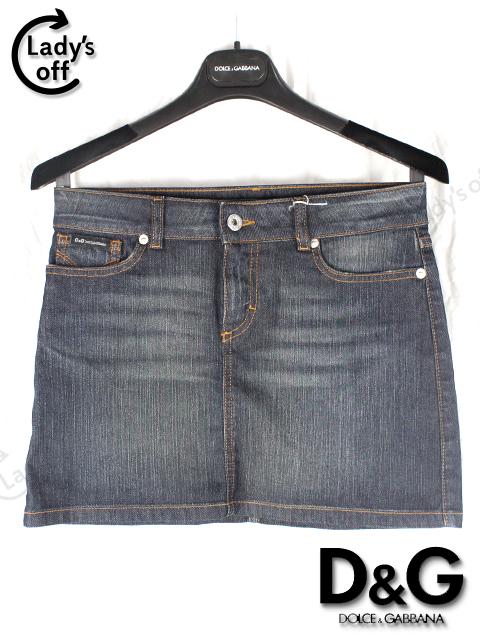 D&G [ ディー&ジー ] 台形 デニム ミニスカート