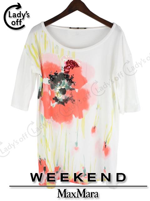 マックスマーラ [ WEEKEND ] フラワー 花柄 カットソー Tシャツ