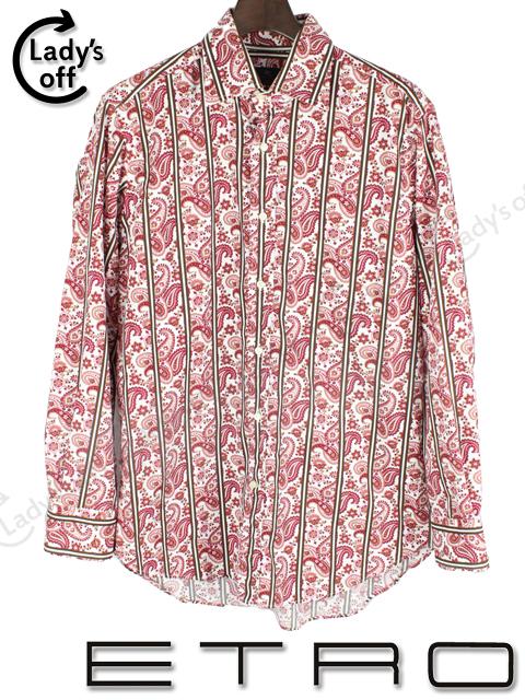エトロ [ ETRO ] ペイズリー柄 長袖 シャツ