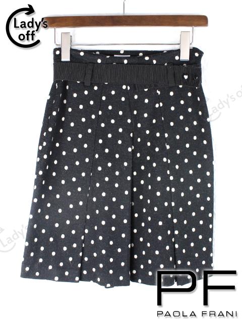 パオラフラーニ [ PAOLA FRANI ] ベルト付 ドット柄 スカート