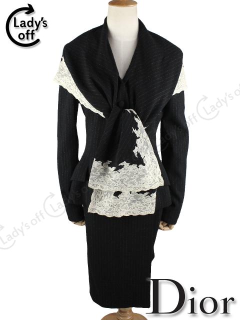 ディオール [ Dior ] レース スカート スーツ 黒