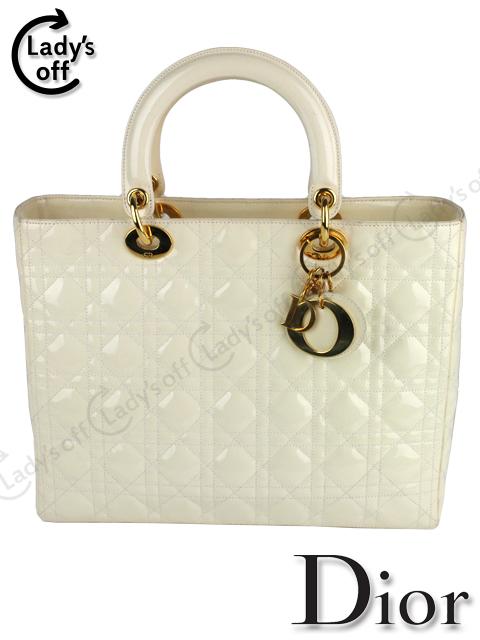 ディオール [ Dior ] レディディオール エナメル バッグ 白