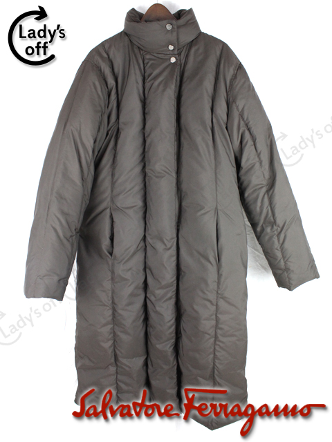 フェラガモ [ Ferragamo ] ロング 中綿 ダウン ジャケット コート