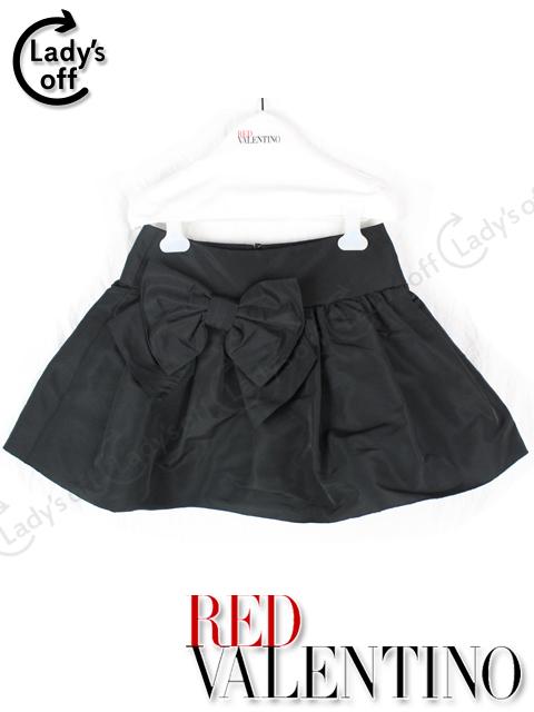 レッドヴァレンティノ [ VALENTINO ] リボン フレアー スカート
