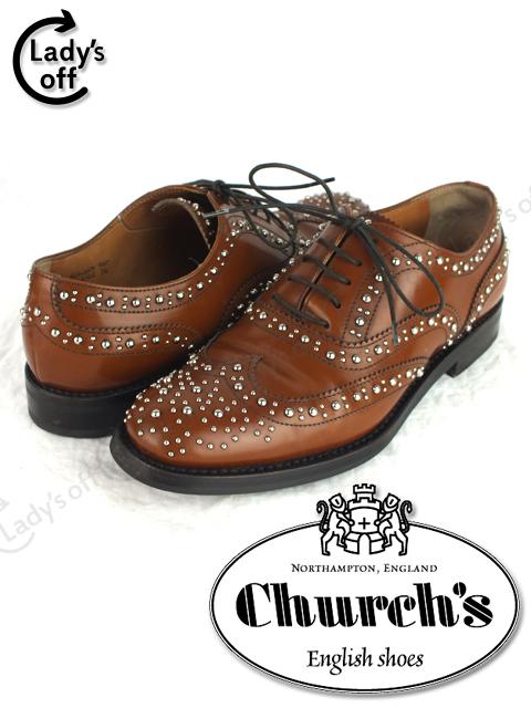 チャーチ [ CHURCH'S ] BURWOOD ウィングチップ シューズ スタッズ バーウッド