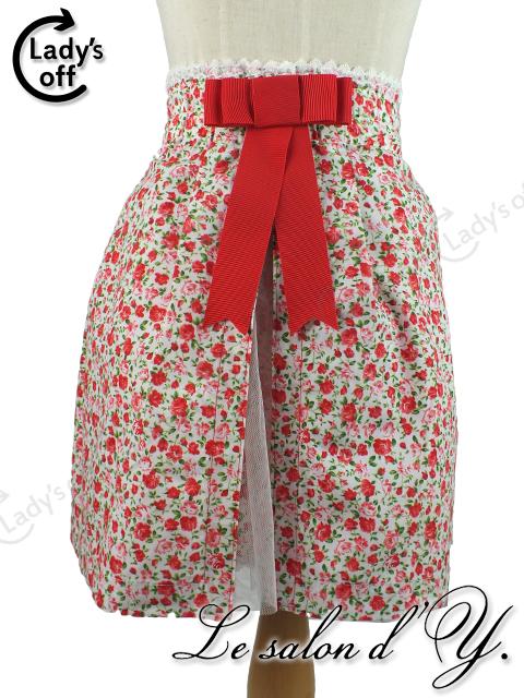 ルサロンディ / アモナヴィー 花柄 レース リボン スカート