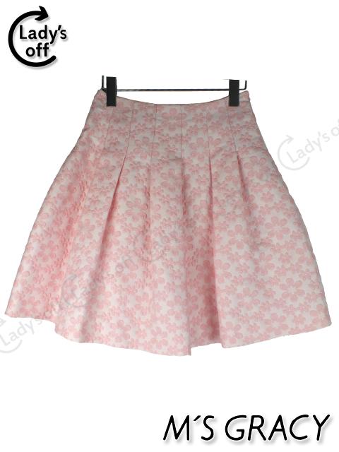 エムズグレイシー [ MS GRACY ] フラワー フレアースカート