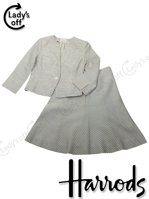 ハロッズ [ Harrods ] ノーカラー ジャケット スカート スーツ