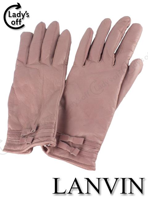 ランバンコレクション [ LANVIN ] リボン レザー グローブ 手袋