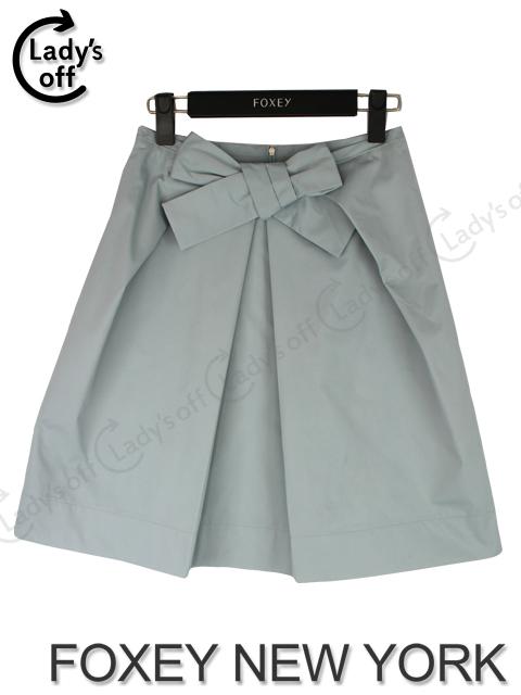 フォクシー NY [ FOXEY ] リボン スカート ミント ブルー