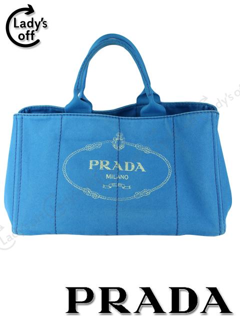 プラダ [ PRADA ] カナパ トートバッグ ブルー 青 [BN1872]