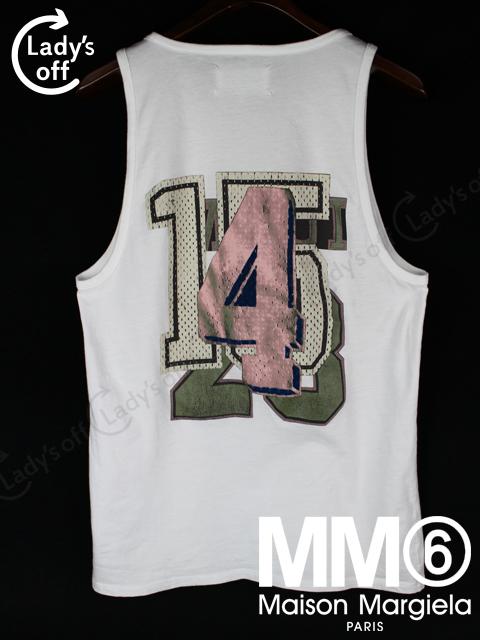 マルタンマルジェラ [ Margiela ] 2012SS Mロゴ タンクトップ Tシャツ 白 SIZE[46]