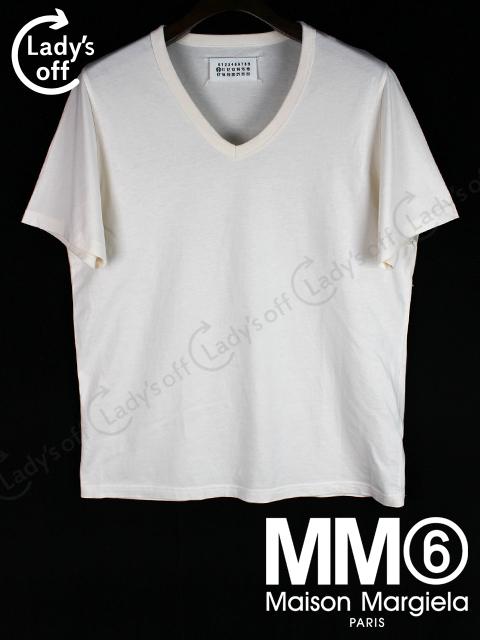 マルタン マルジェラ [ MM6 ] Vネック Tシャツ 半袖 白