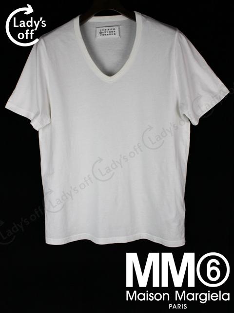 マルタンマルジェラ [ Margiela ] 15ss Vネック Tシャツ 半袖 白