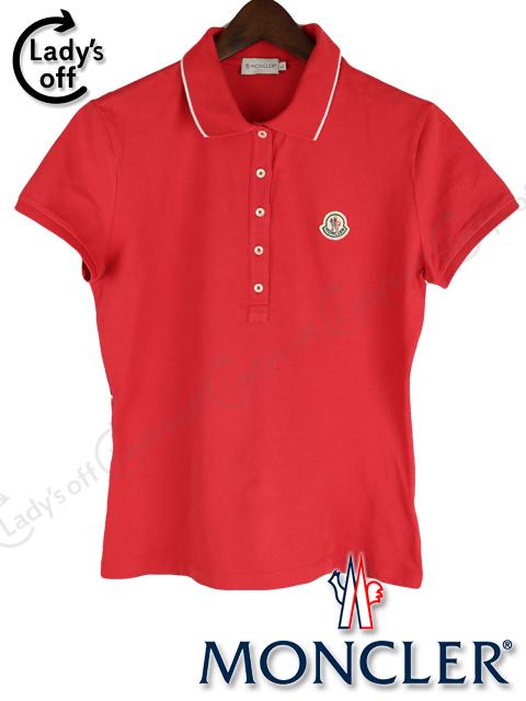 モンクレール [ MONCLER ] ポロシャツ レッド 赤 半袖