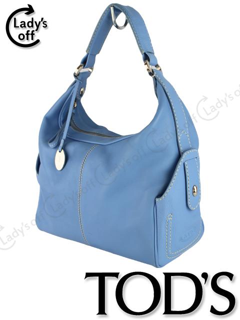 トッズ [ TODS ] レザー ワンショルダー バッグ ブルー ハンドバッグ