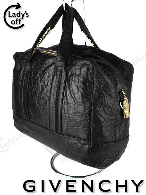 ジバンシイ [ GIVENCHY ] レザー チェーン ボストンバッグ ブラック 黒 ハンドバッグ