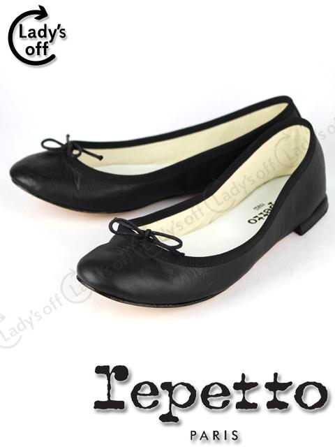 レペット [ repetto ] リボン バレエ シューズ ブラック 黒 SIZE[37] フラットシューズ