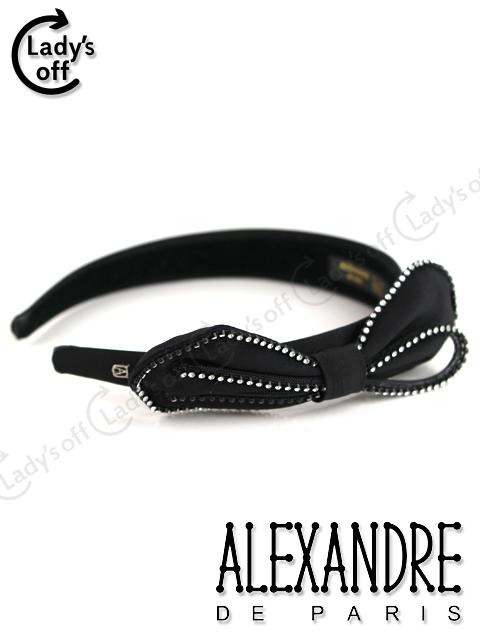 アレクサンドルドゥパリ [ ALEXANDRE ] スワロフスキー リボン カチューシャ ブラック 黒