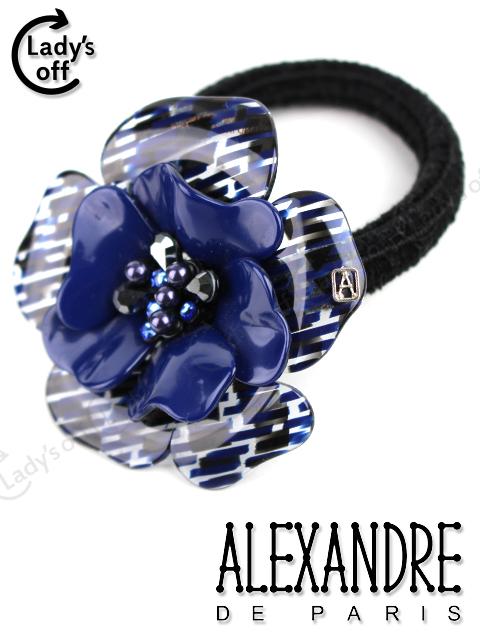 アレクサンドルドゥパリ [ ALEXANDRE ] カメリア フラワー ヘアゴム ネイビー 紺色 ヘアアクセサリー