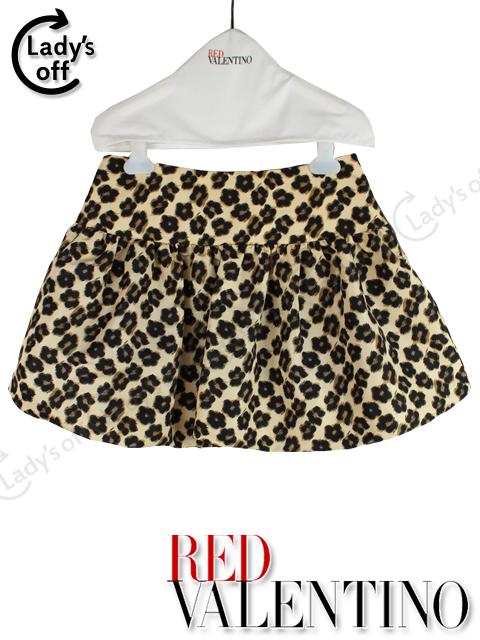 レッドヴァレンティノ [ VALENTINO ] レオパード柄 フレアースカート SIZE[40] バルーンスカート
